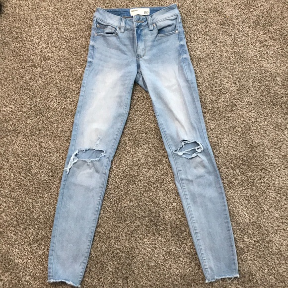 Garage light wash ripped jeans